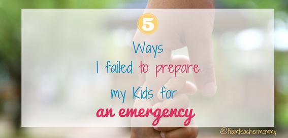 preparing kids for emergency