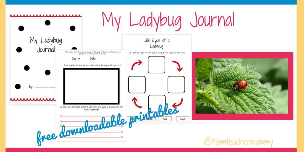 ladybug journal printables